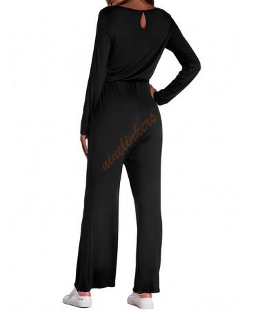 Drawstring side pocket jumpsuit