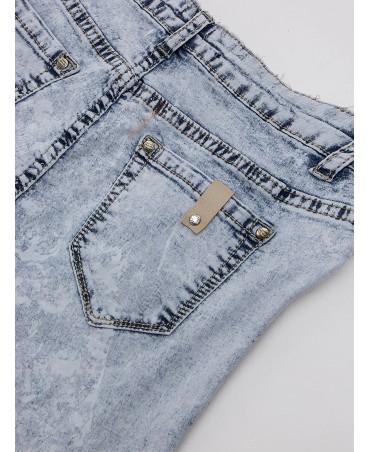 Skinny jeans, light wash, open cut