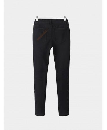 Ripped knee high waist skinny jeans