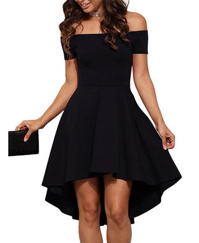 Sexy black ruffled dress